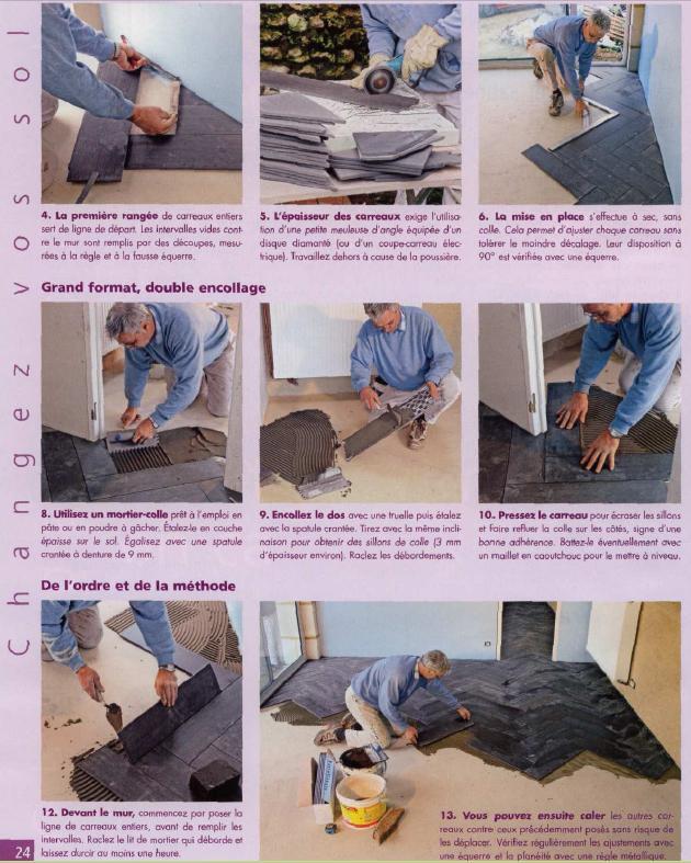 pose carrelage b tons rompus. Black Bedroom Furniture Sets. Home Design Ideas
